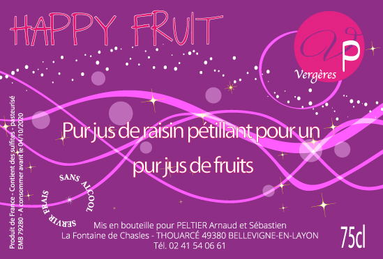 HAPPY FRUIT Jus de raisin pétillant